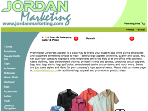 Jordan Marketing apparel products